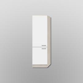 Hogekast Genf wit met akazia design 60x206,8x60 cm