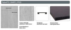 Buffetonderkast 158 cm Felix beton optiek