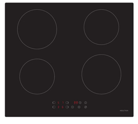 PKM IF4N inductiekookplaat 60 cm zelfvoorzienende aanraakbediening 9 warmtestanden