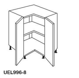 Hoek onderkast  90x90cm zonder werkblad Lasse