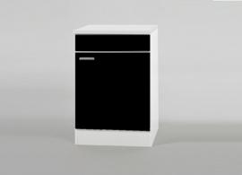 Spoel onderkast Mat zwart 60x60x82 cm