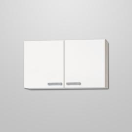 Bovenkast Genf wit met akazia design 100x57,6 cm