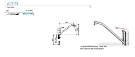 Spoelbak RVS 100x60 met onderkast en 1x lade