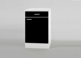Onderkast één lade mat zwart  50x50 cm