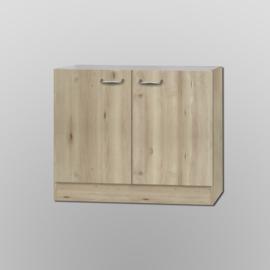 Spoelkast 100x60 zonder werkblad Elba edel beuken decor