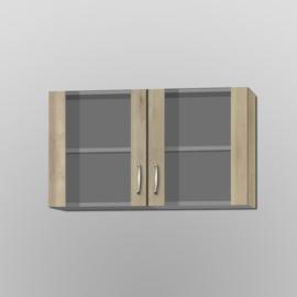 Bovenkast Elba 100x57,6 glas edel beuken decor