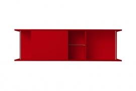 Onderblok met schuifkast Rood 150x60 cm