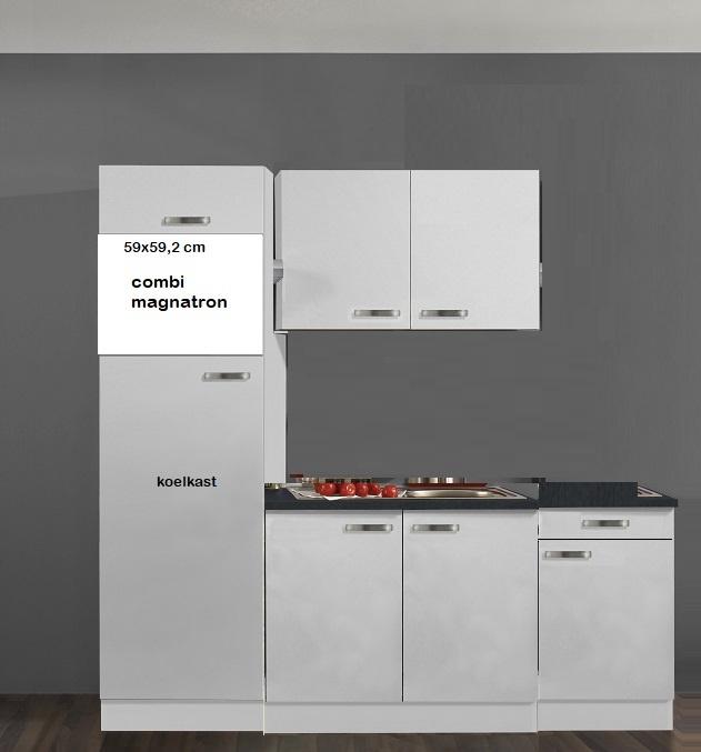 witte keuken pantry oplossing 220x60cm