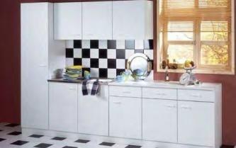 Complete keuken 300x210cm wit of beuken