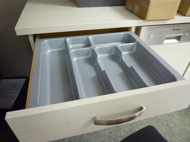 Besteklade grijs 43,6 x36,8 cm (geschikt voor lade 50x50cm)