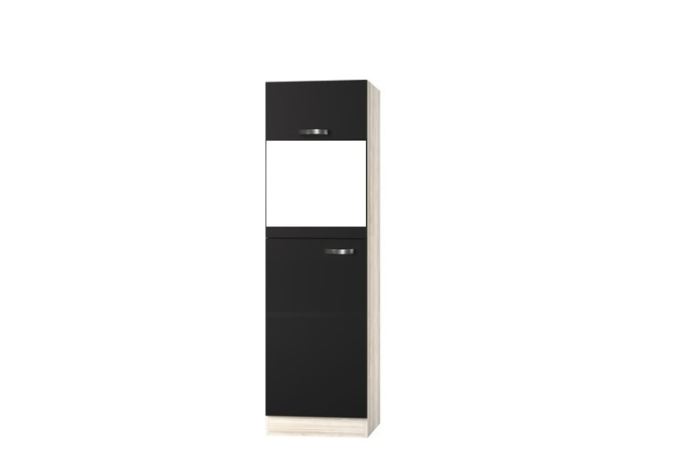 Hogekast Faro 60x60x206,8 cm tbv inb. koelkast en combimagnetron