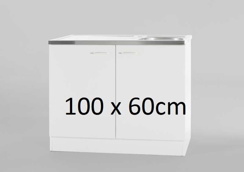 Spoelbak RVS met onderkast 100x60cm
