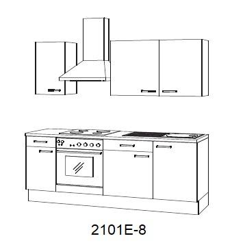 Keuken zonder hoge Wit Hoogglans Peer met of zonder apparatuur