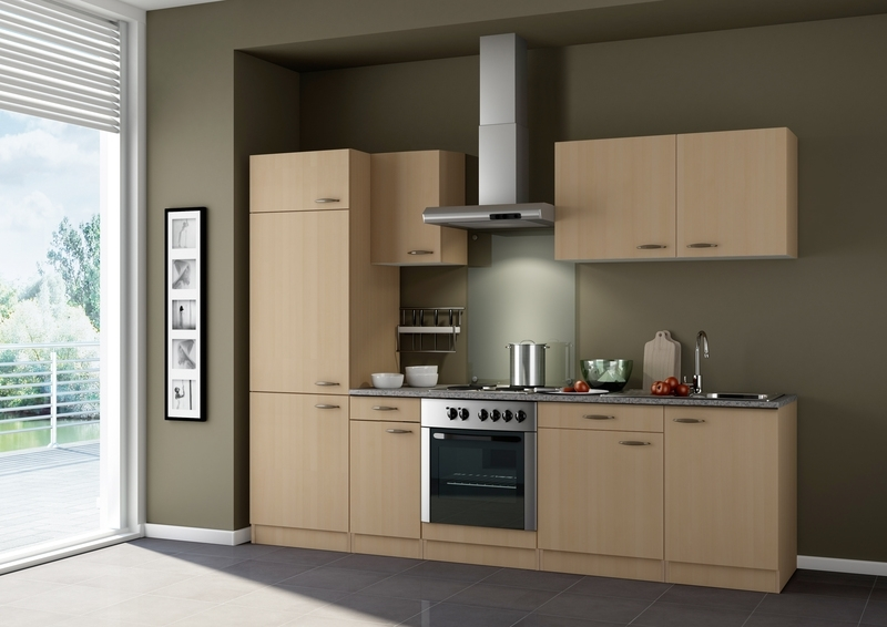 Keukenblok 270cm Beuken excl apparatuur