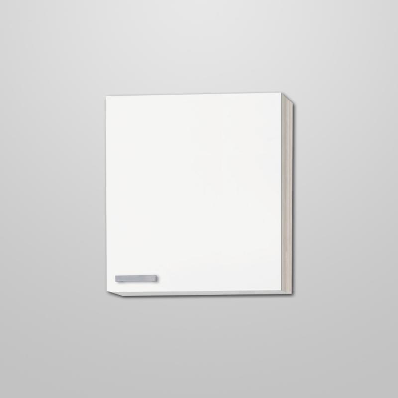 Bovenkast hoog Genf wit met akazia design 60x89,6