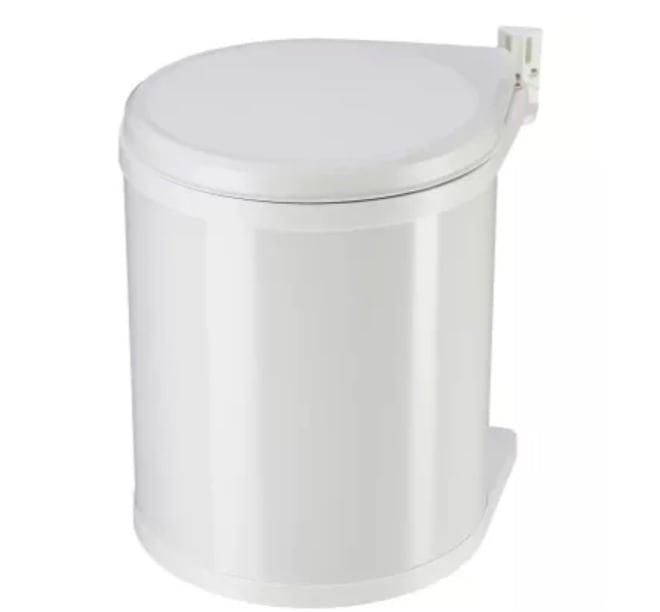 Afvalemmer Rond inbouw wit 13 liter