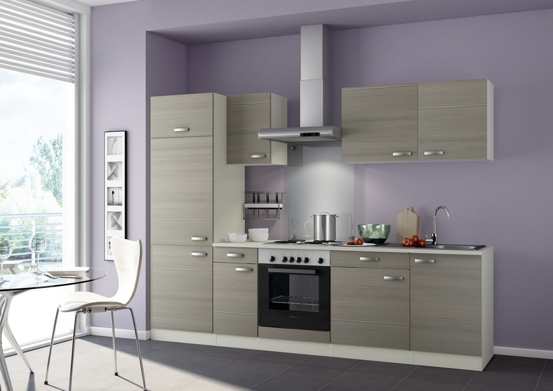 Keukenblok 270cm Vigo excl. apparatuur Pijnboom Nougat