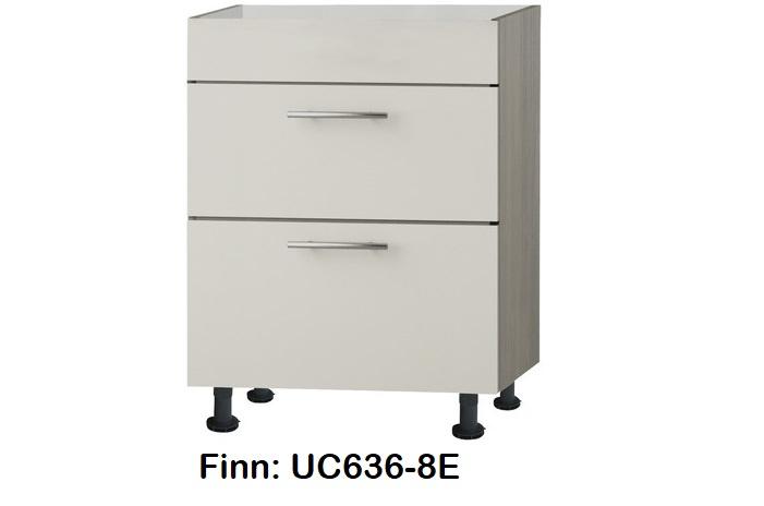 Kookplaat onderkast 60cm met  2 uittreklades, zonder werkblad Finn