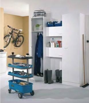 Garage schuur opstelling 160x210X60 wit