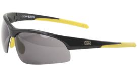 Contec sportbril 3DIM - Zwart/geel