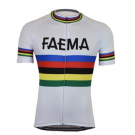 Regenboog - Faema wielershirt