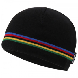 Santini UCI 'rainbow' winter beanie
