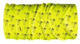 HAD Multifunctie nekverwarmer Bike Fluo geel