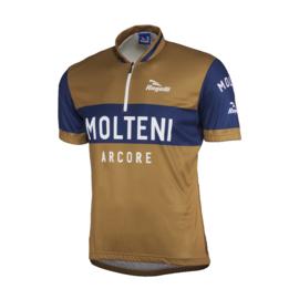 Retro Molteni bruin wielershirt - Rogelli
