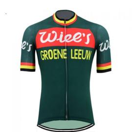 Wiel's - Groene leeuw wielershirt