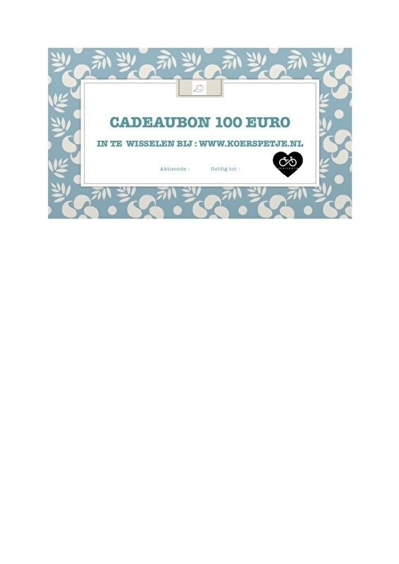 Koerspetje cadeaubon 100 euro