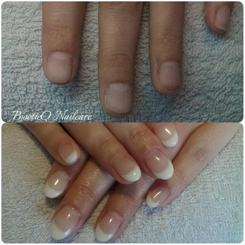 Nieuwe Set Gelnagels French Manicure