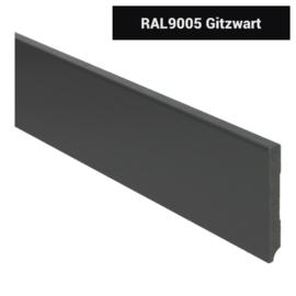 MDF Moderne Plint 90x12 Zwart Voorgelakt RAL9005