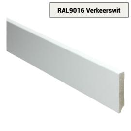 MDF Moderne Plint 70x12 Verkeerswit Voorgelakt RAL9016