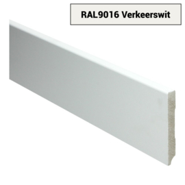 MDF Moderne Plint 90x12 Verkeerswit Voorgelakt RAL9016