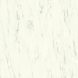 Quick Step Ambient Click + Tegel Carrara Marmer Wit