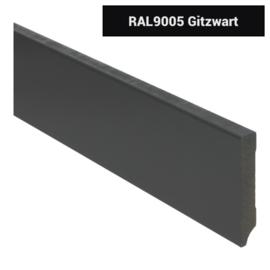 MDF Moderne Plint 90x15 Zwart Voorgelakt RAL9005