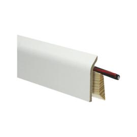 Systeemplint met folie wit RAL 9010