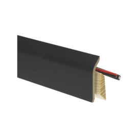 Systeemplint met folie zwart RAL 9005