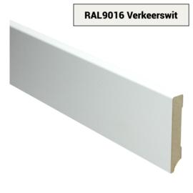 MDF Moderne Plint 90x15 Verkeerswit Voorgelakt RAL9016