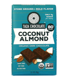 Taza Bars - Coconut Almond