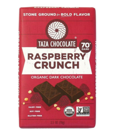 Taza Bars - Raspberry Crunch 70%