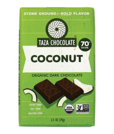 Taza Bars - Coconut 70%