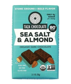Taza Bars - Sea Salt & Almond 80%