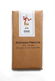 Krak Chocolade - Hibiscus Vanilla White 40%