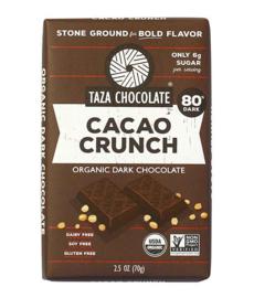 Taza Bars - Cacao Crunch 80%