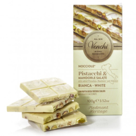 Venchi Chocolates - Pistacchi & Mandore Salate Bianca