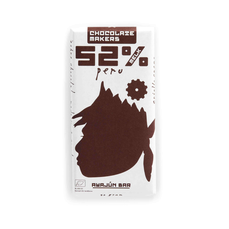 Chocolate Makers - Awajun Bar Melk 52%