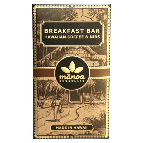 Manoa - Breakfast Bar with Hawaiian Coffee & Nibs 60%