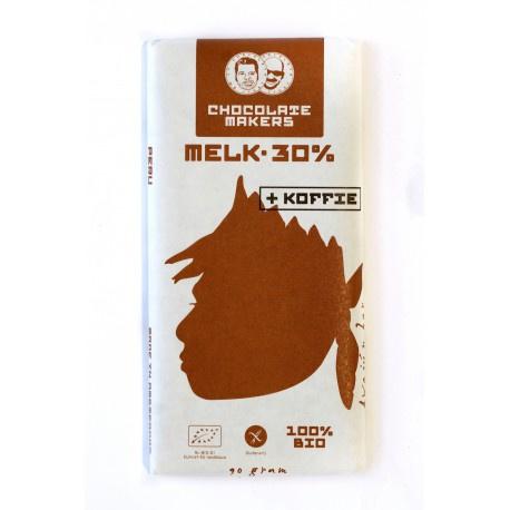 Chocolate Makers - Awajun Bar met koffie Melk 30%