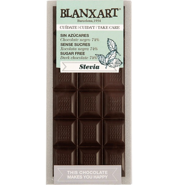 Blanxart - Dark Chocolate with Stevia (Suikervrij)